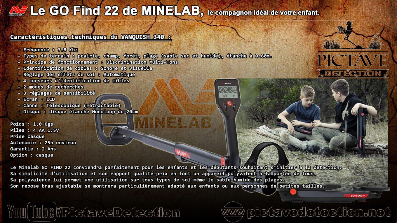fiche technique go-find 22 de Minelab