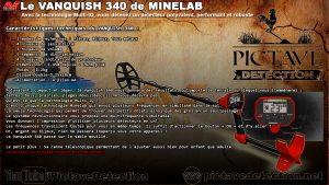 Fiche technique vanquish 340 minelab