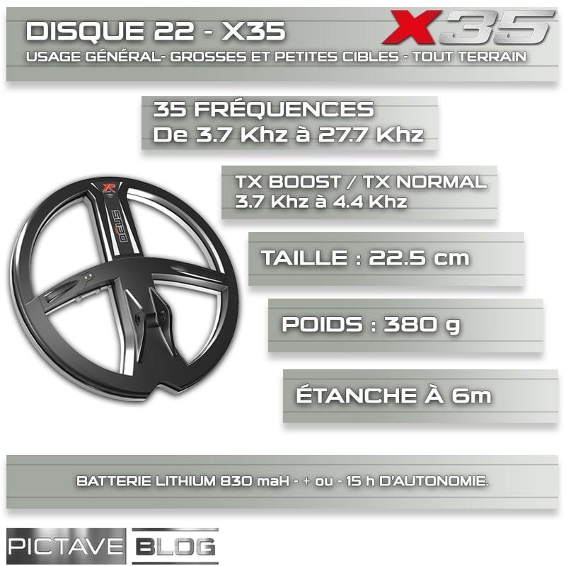 Disque 22X35 détails